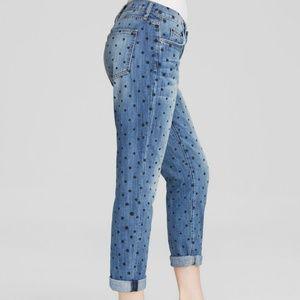 Current Elliott polka dot the fling denim jeans 25